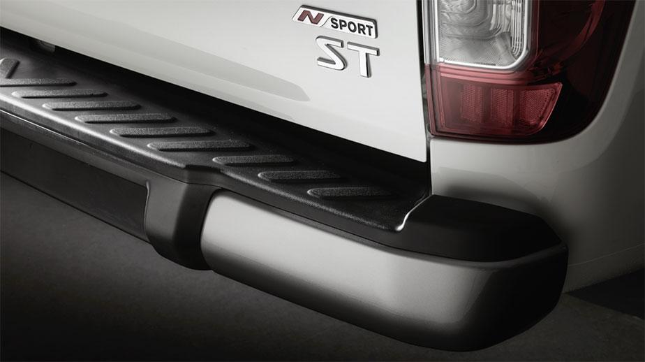 Gun Metallic rear bumper