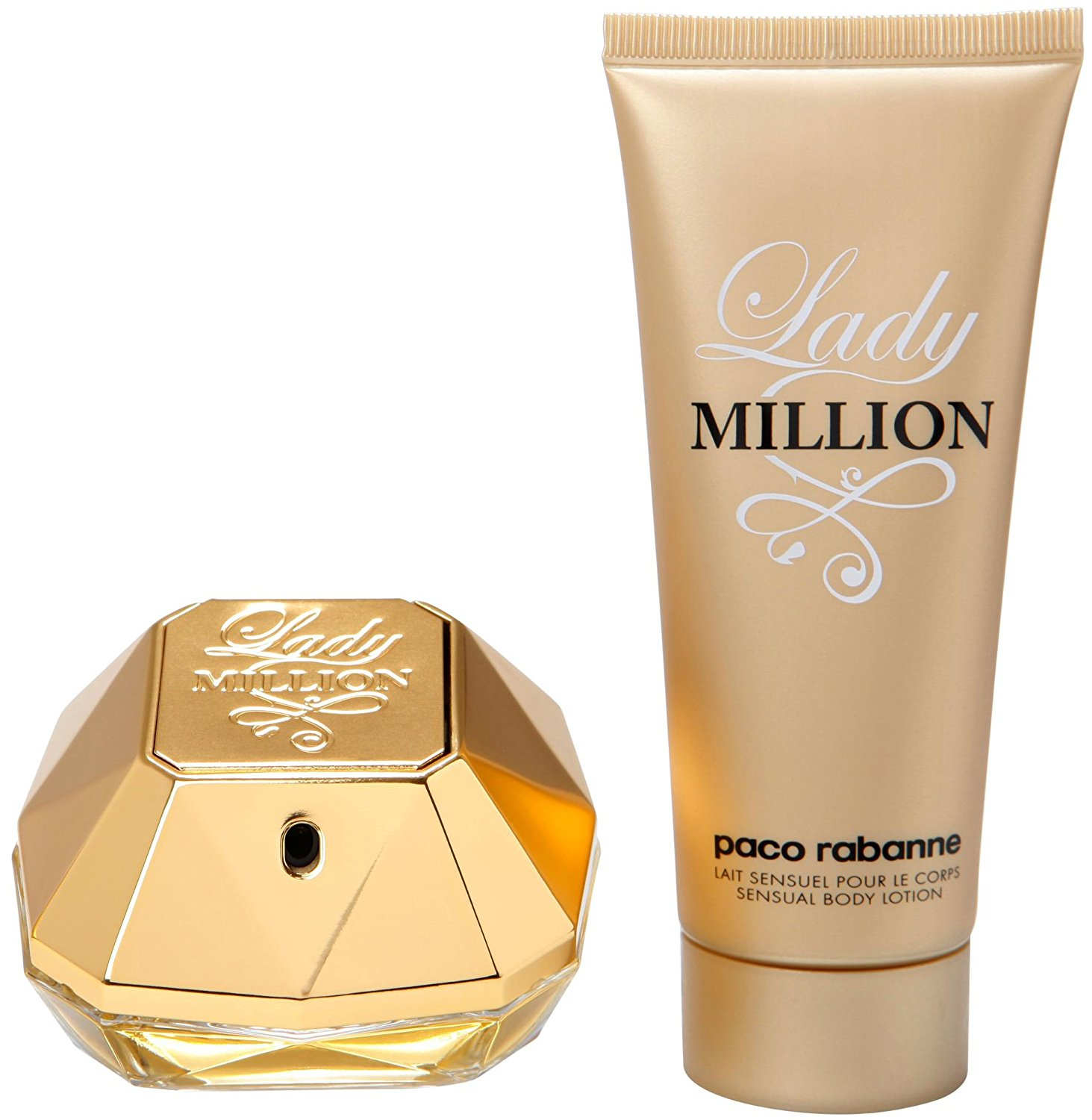 Paco Rabanne Lady Million Gift Set with 80 ml Eau ...