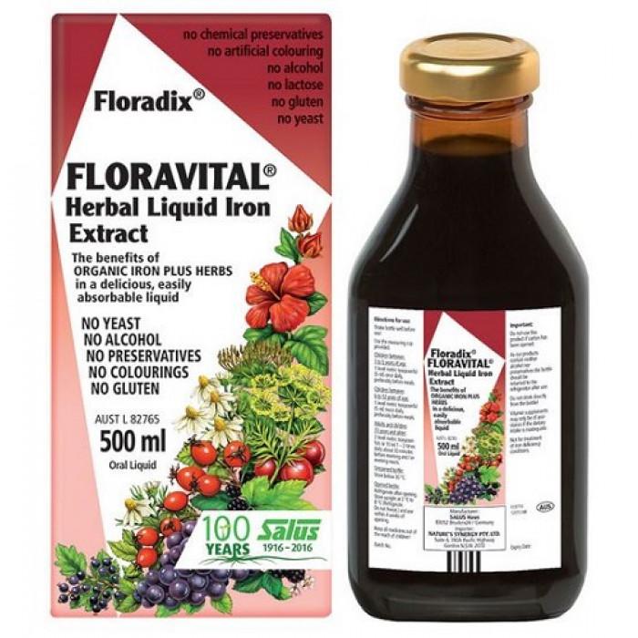 FLORADIX FLORAVITAL (Yeast & Gluten Free) Herbal Liquid ...