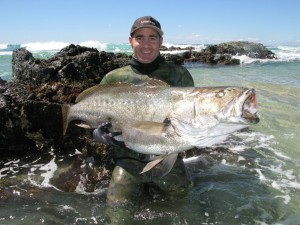 Tim McDonald with a great Jewfish from a shore dive