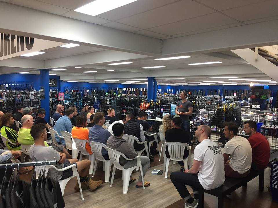 We're stoked to be a hub for the spearfishing, scuba diving and surfing communities! Here's 30 attendees at our free Melbourne store freediving seminar this week.