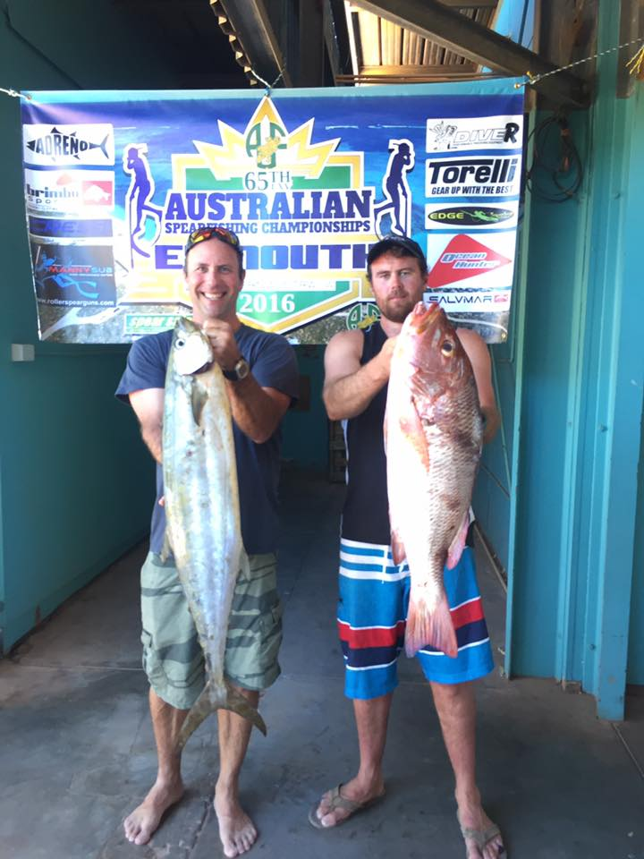Graham and Dwayne with epic shore diving species. Exmouth sure produces the goods!