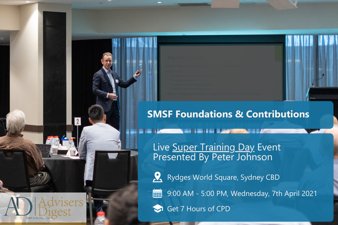SMSF Foundations & Contributions by Peter Johnson