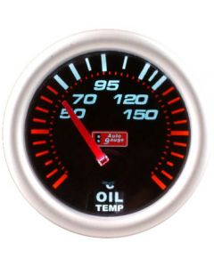 Autogauge 52mm Smoked Face Oil Temp Gauge