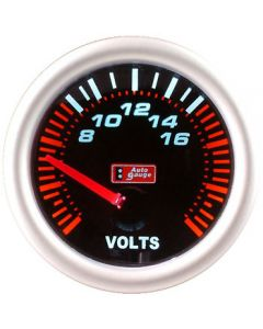 Autogauge 52mm Smoked Face Volt Meter Gauge