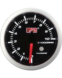 Autogauge 52mm 10,000 RPM Tachometer & Warning Light