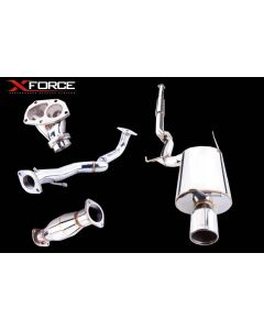 "X-force - 3"" STAINLESS STEEL TURBO BACK EXHAUST SYSTEM - MITSUBISHI Lancer EVO 7,8,9 2001-07"