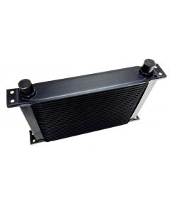 Cooling Pro Oil Cooler - 7 Row Hw Black - 10 Outlets (285x50 Core Size)