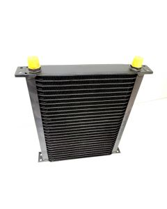 Cooling Pro Oil Cooler - 28 Row Lw Black -10 Outlets (360x290 Core Size)