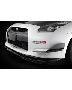 Mines Dry Carbon Front Spoiler - Nissan R35 GTR