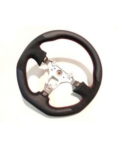 MINES ORIGINAL LEATHER STEERING WHEEL (Red Stitching) - NISSAN R34 GTR