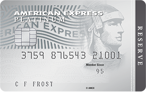 The American Express<sup>®</sup> Platinum Reserve Credit Card