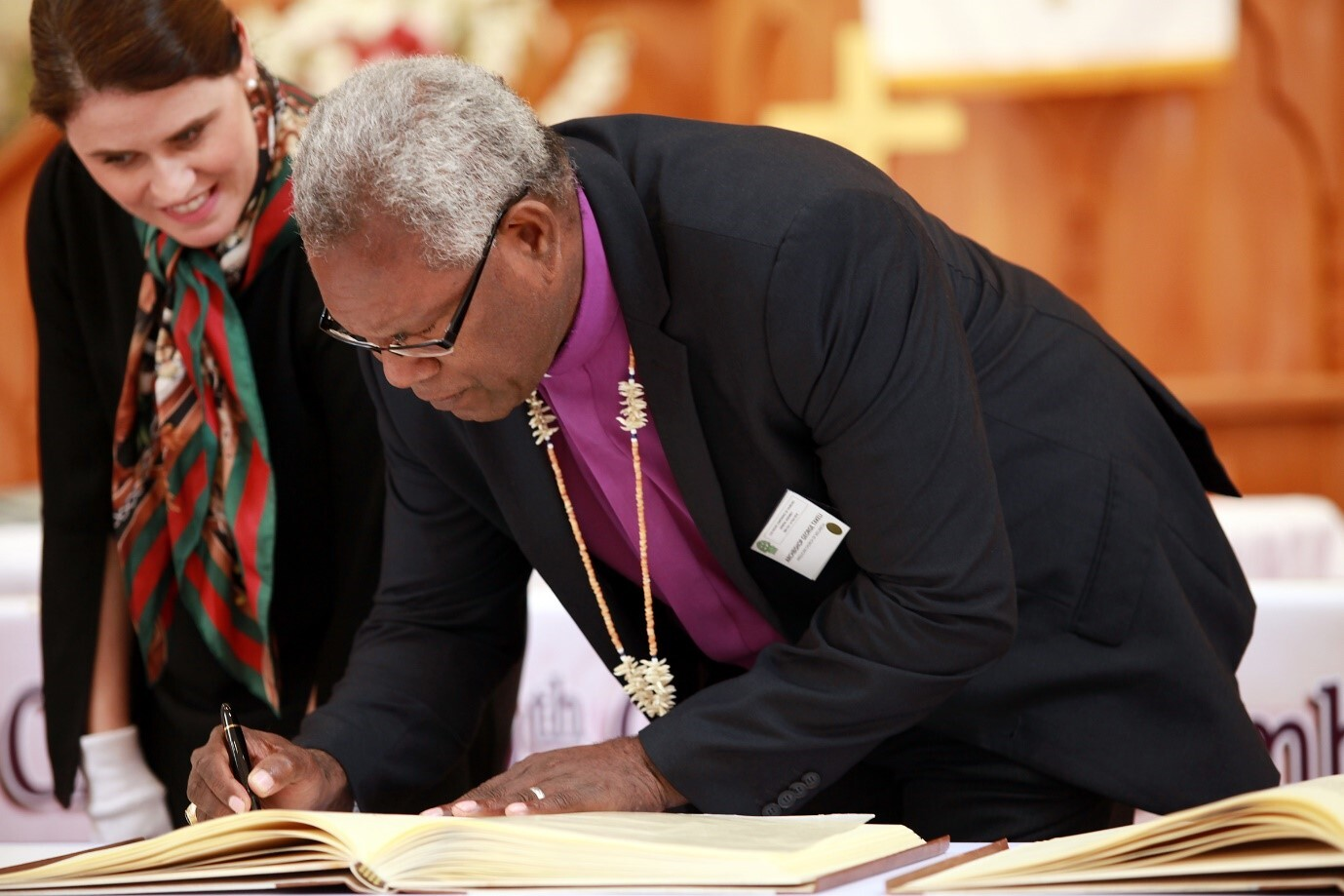 Signing Joint Declaration of Religious Leaders Against Modern Slavery