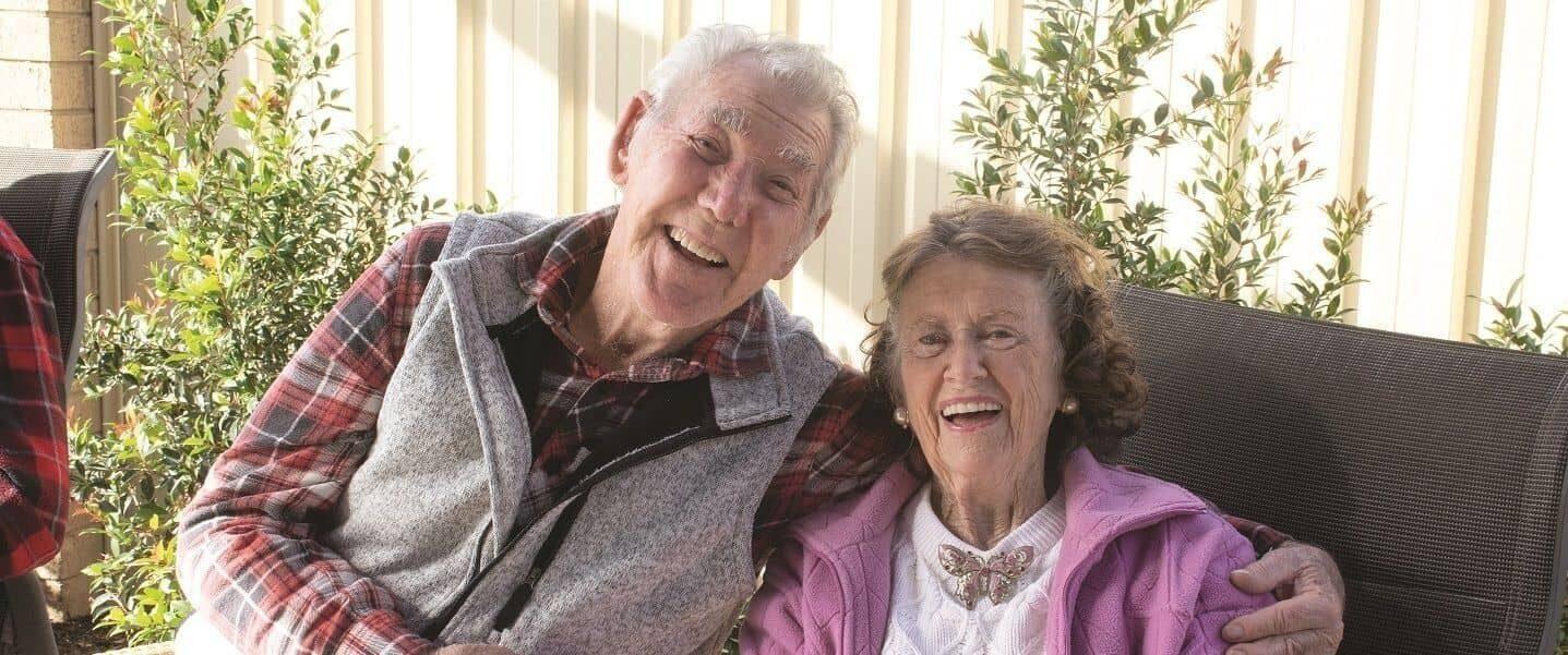Amana Living carer aged care older couple hero