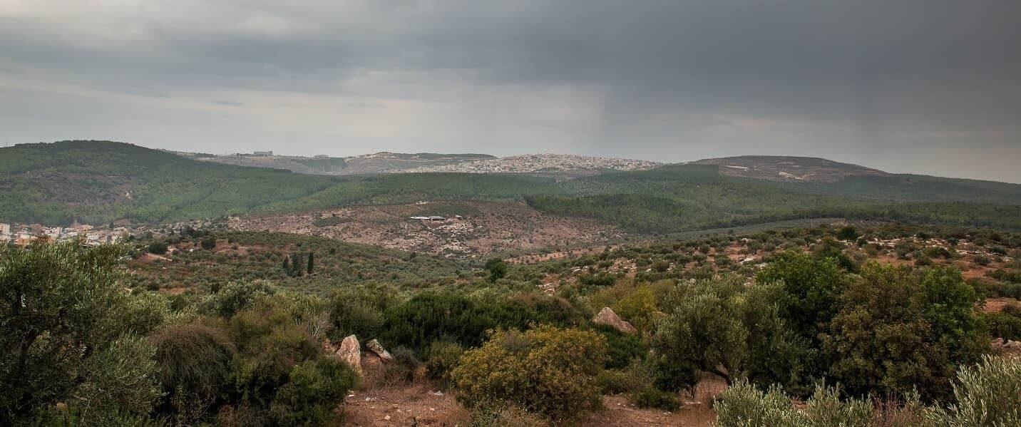 Transfiguration view Mt Tabor Israel