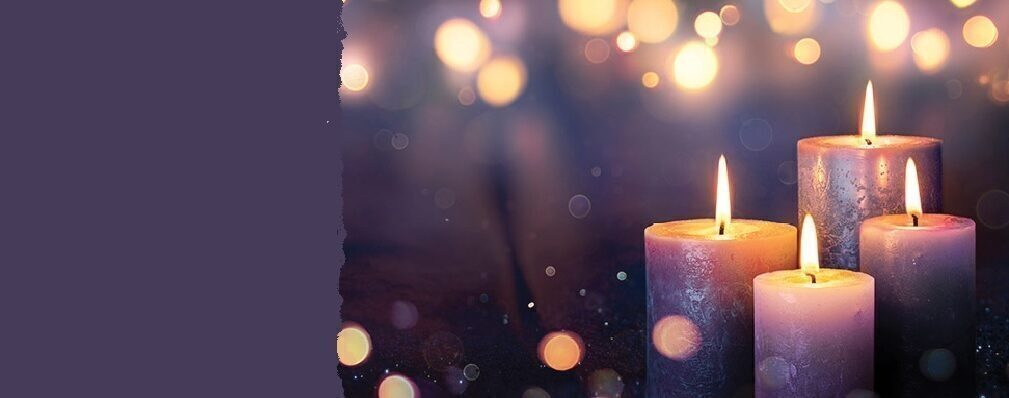 Advent candles lights hero