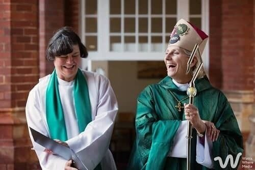 The Right Reverend Kate Wilmot with Archbishop Kay Goldsworthy