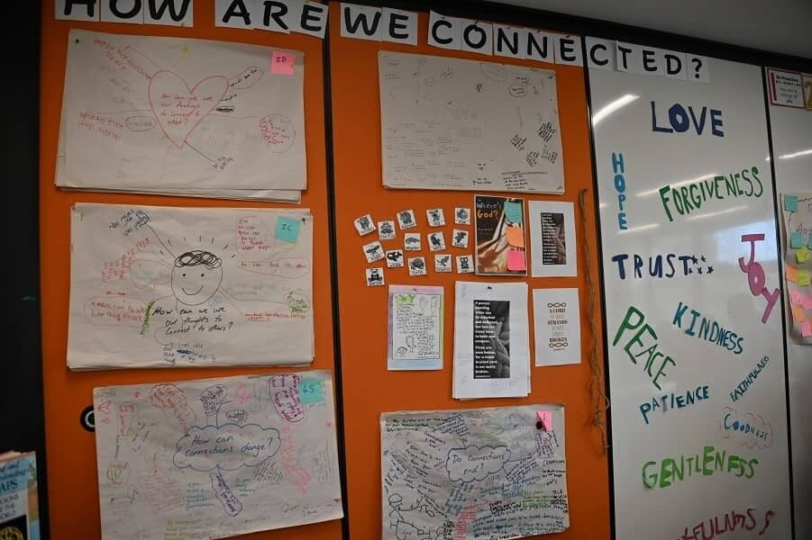 All Saints College learning board collage