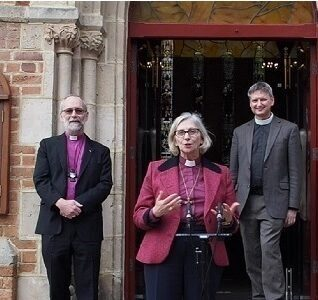 Archbishop Jerermy Kate and Chris at St Georges Cathedral