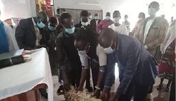 Eldoret Family gives a sheep in thanksgiving for healing of a family