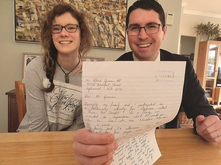 Elisabeth Hughes and Mr Patrick Gorman MP