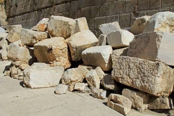 Fallen Stones Southwestern Wall of Jersualems Temple