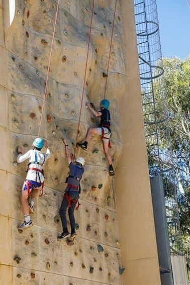 JSR Yr9 Camp rock climbing image