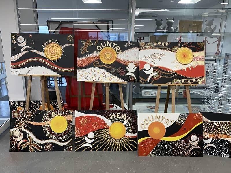 St James Anglican School NAIDOC Day paintings image