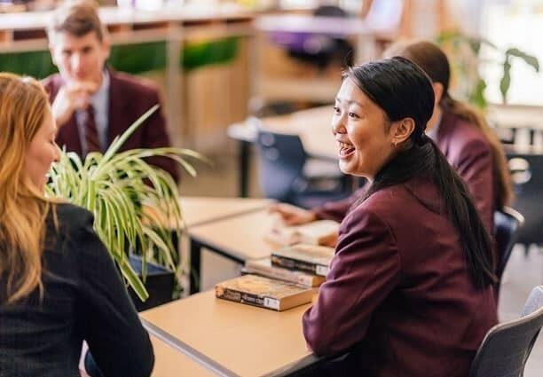 St Marks Anglican School senior students talking