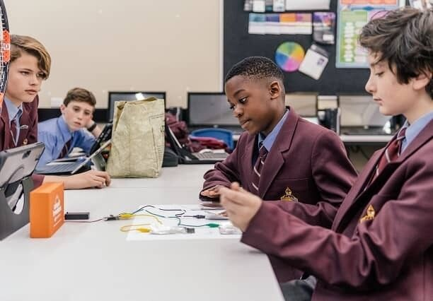 St Marks Anglican School students experiment