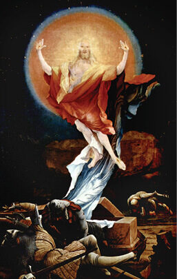 The Resurrection of Christ from the right wing of the Isenheim Altarpiece