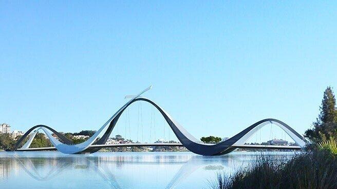 Bridge wave river image