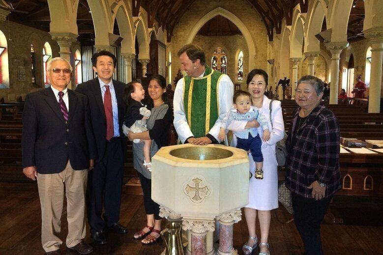 Claremont christchurch baptism row4
