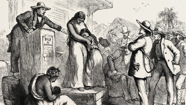 Slaves auction reflection on pearls freedom