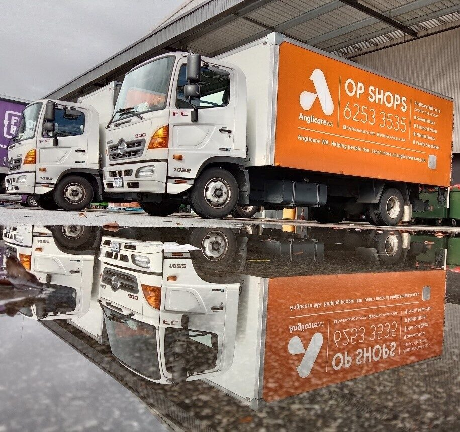 Sustainable september anglicare op shop trucks
