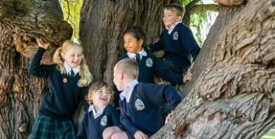 Georgiana Molloy Anglican School children in tree thumbnail