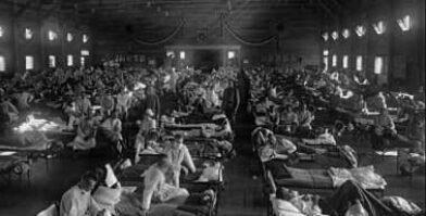 Spanish flu full hospital beds thumbnail