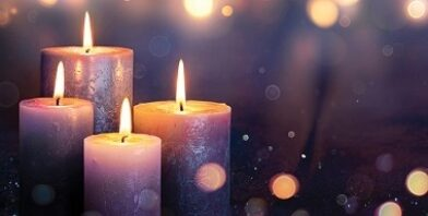 Advent candles lights banner