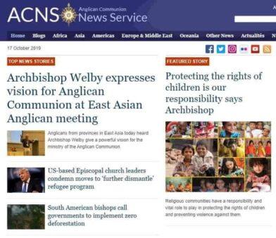 Anglican news image