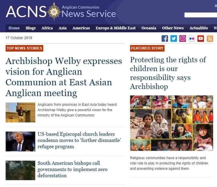 Anglican Communion News