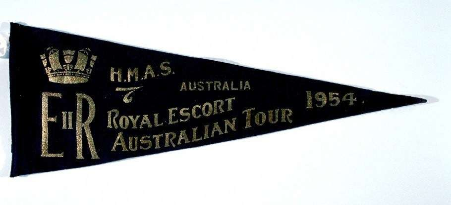 1954 Royal Tour pennant, ANMM Collection