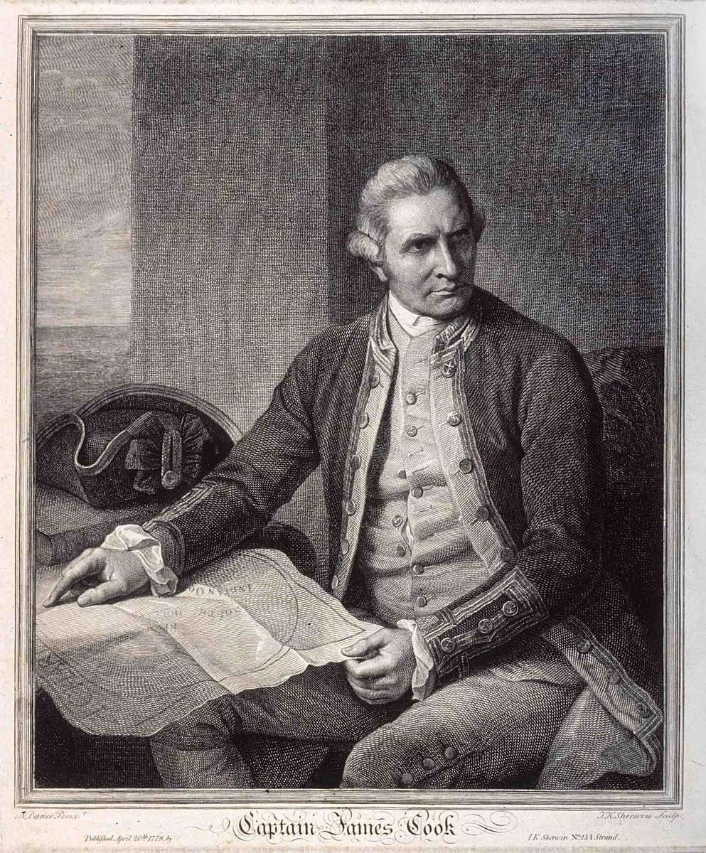 Engraving of James Cook