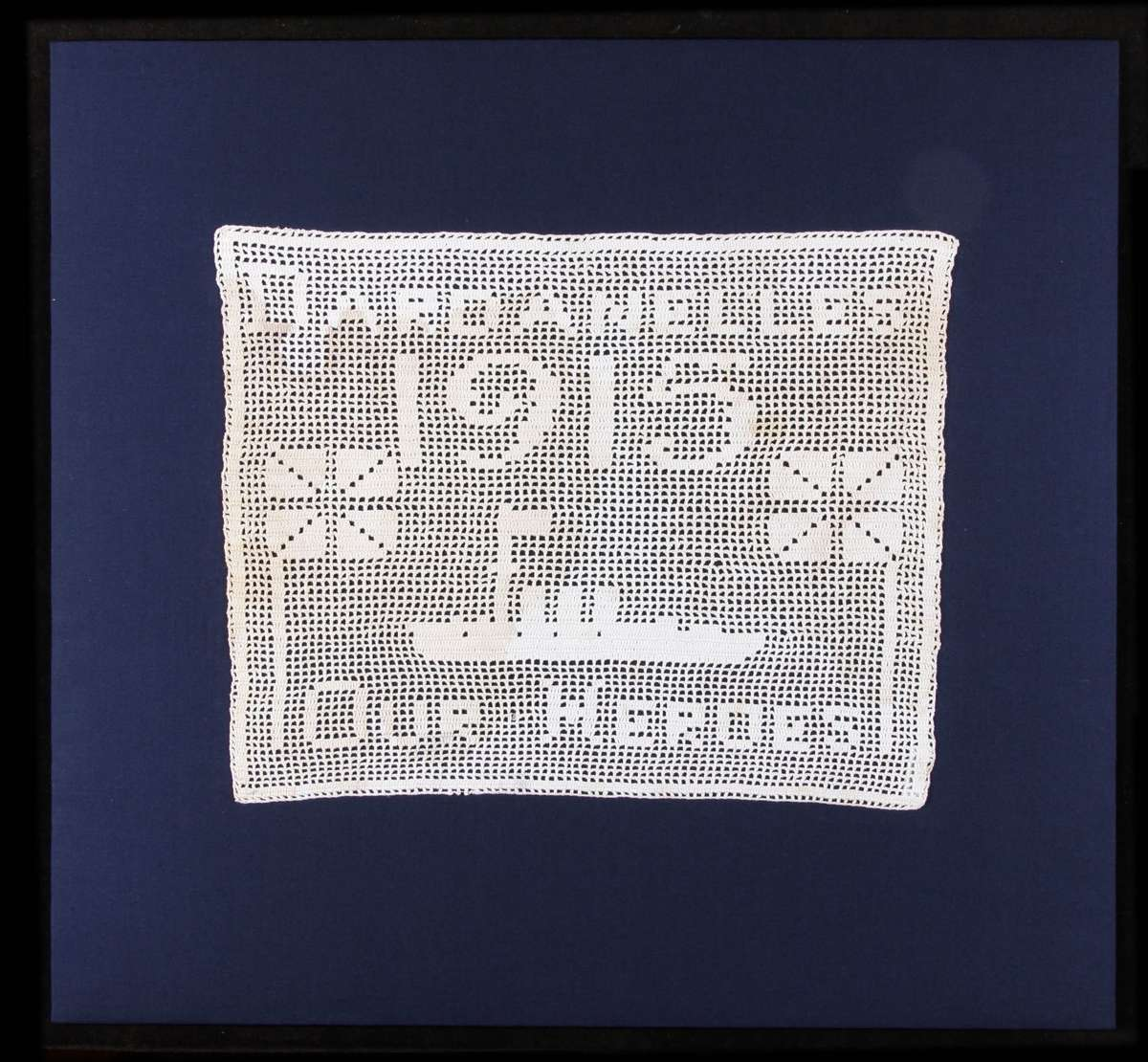 Hand crocheted cloth c 1915, ANMM Collection