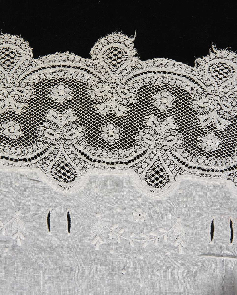 Close-up of lace detail