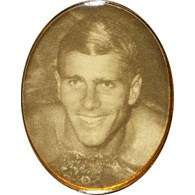 Badge with image of Murray Rose