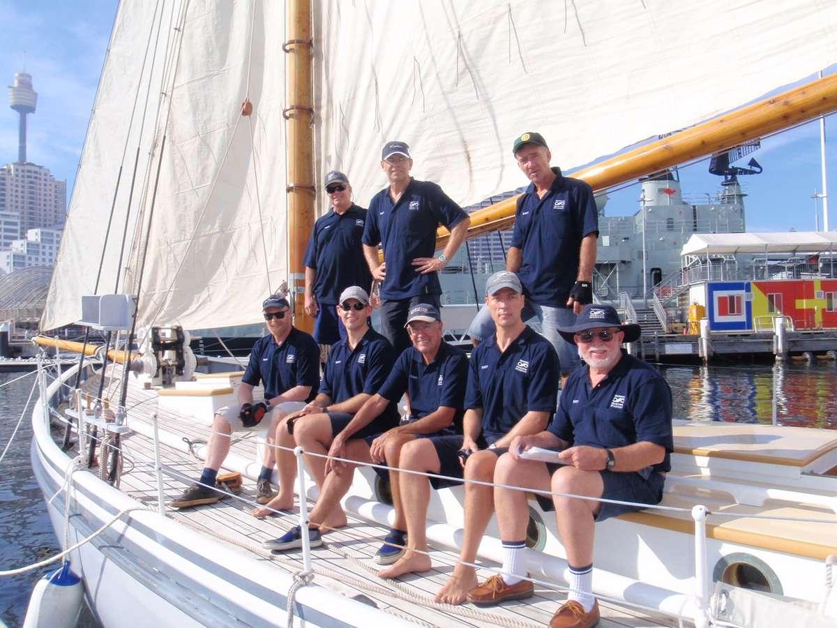 The race crew on board Cathleen Gillett