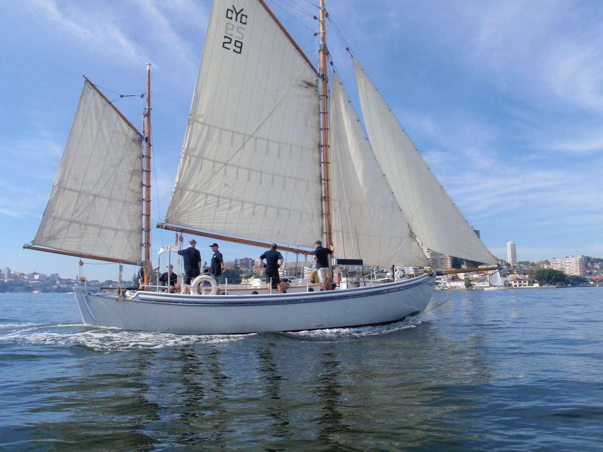 Kathleen Gillett on Sydney Harbour