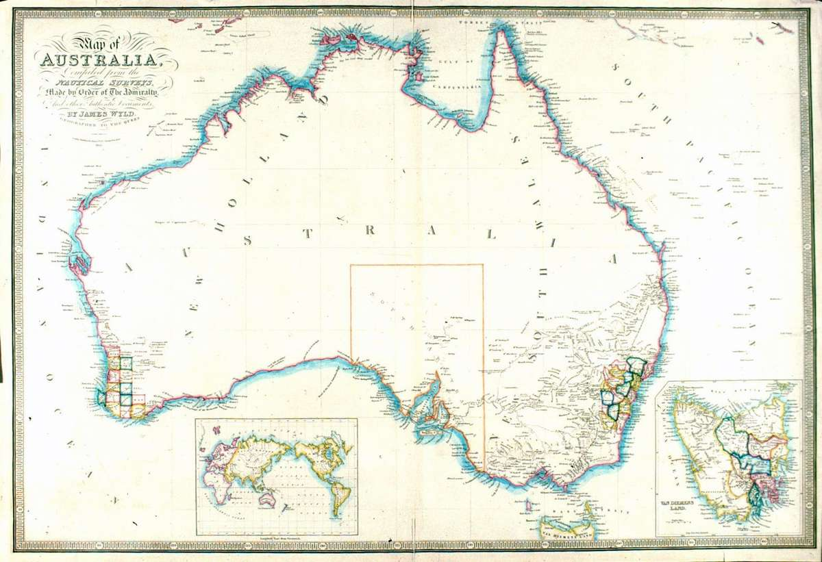 Map of Australia compiled by John Wyld, Geographer to the Queen, 1841. #00000893, ANMM Collection