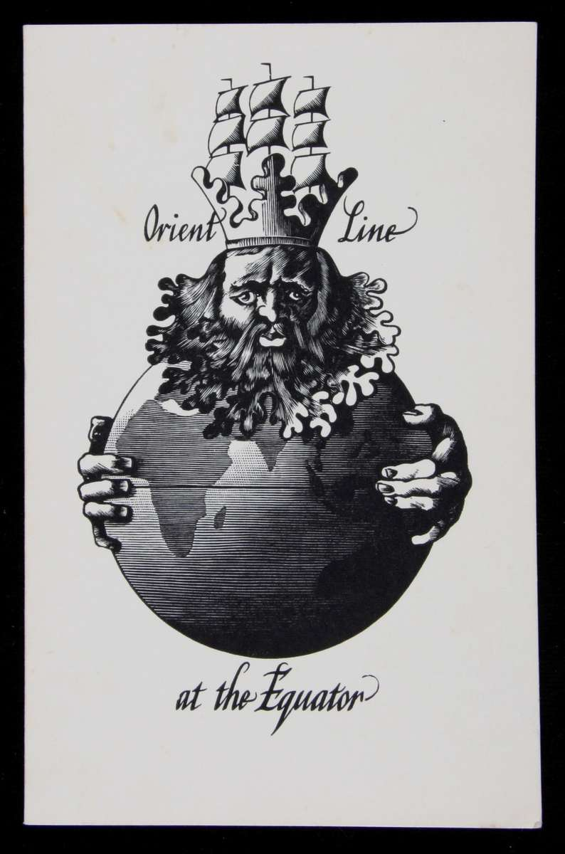 Orient Line menu, to mark crossing the equator 1953, ANMM Collection 00042590