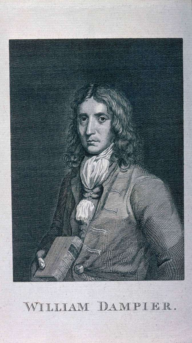 Copper engraving of William Dampier. ANMM Collection 00000846